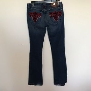 Antik Denim Bootcut Velvet Jeans WSF2362 Size 26